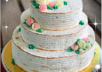 Flower Weeding Cake