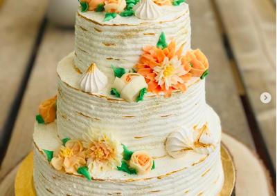 Flower Weeding Cake com Suspiros