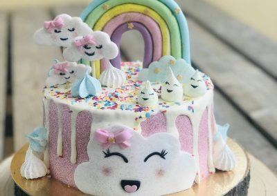 Cloud Glitter Cake